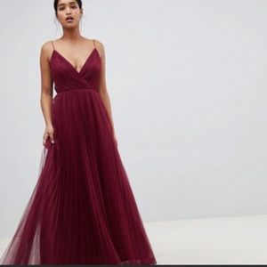 ASOS oxblood maxi prom dress